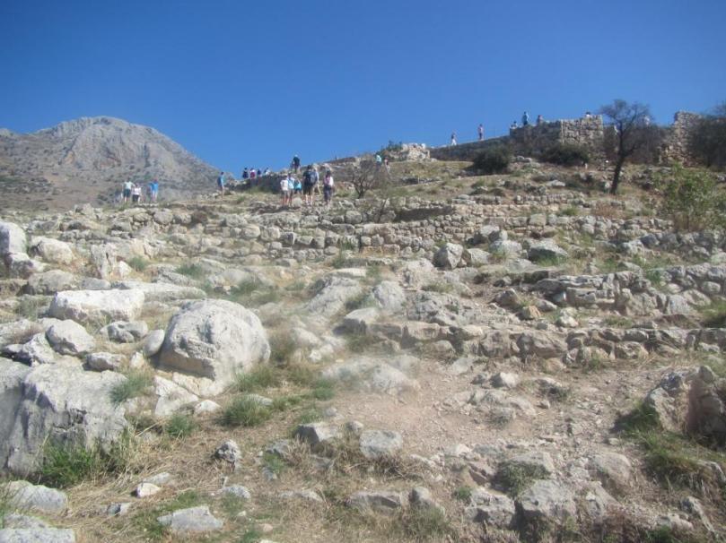 The ruins of Mycenae