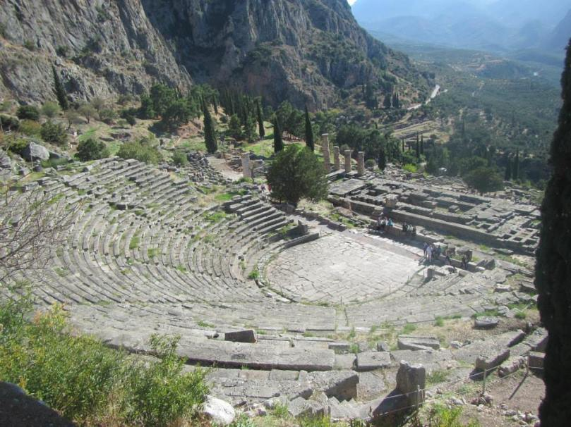 The stadium at the Archaeological site of Delphi
