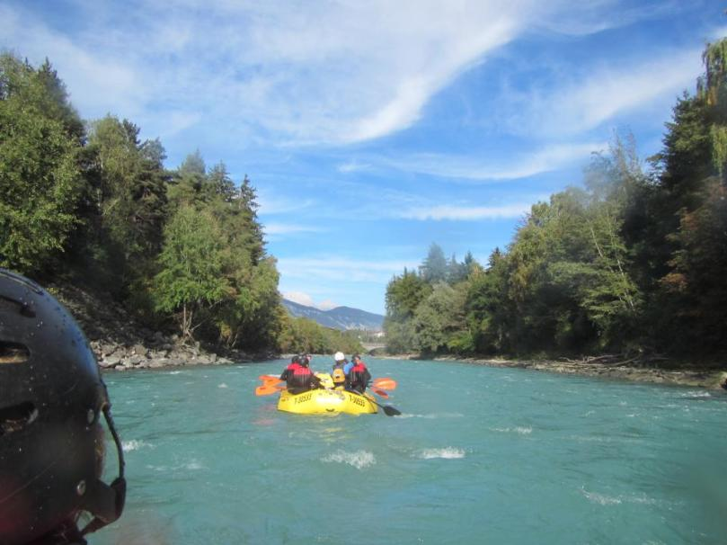 White water rafting in Austria