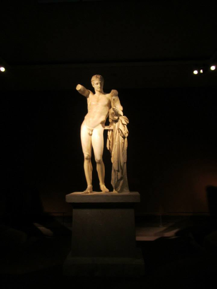 The famous Hermes at the Olympia Archaeological Museum
