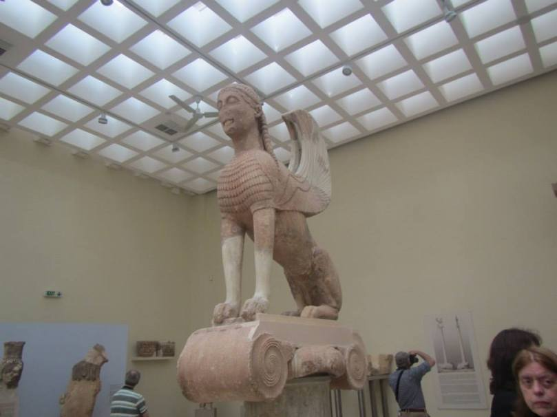 Delphi Archaeological Museum - The Sphinx.