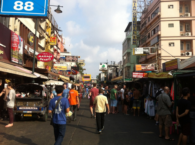The busy Khao San Road