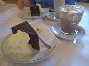 Sachertorte cake and coffee in Vienna - perfect!