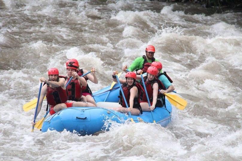White water rafting on the Sarapiqui River, Costa Rica