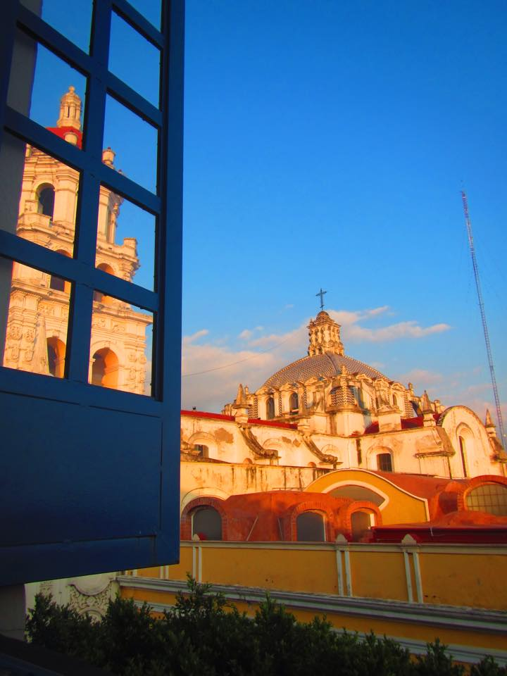 The view from my bed. Literally. Puebla, Mexico.