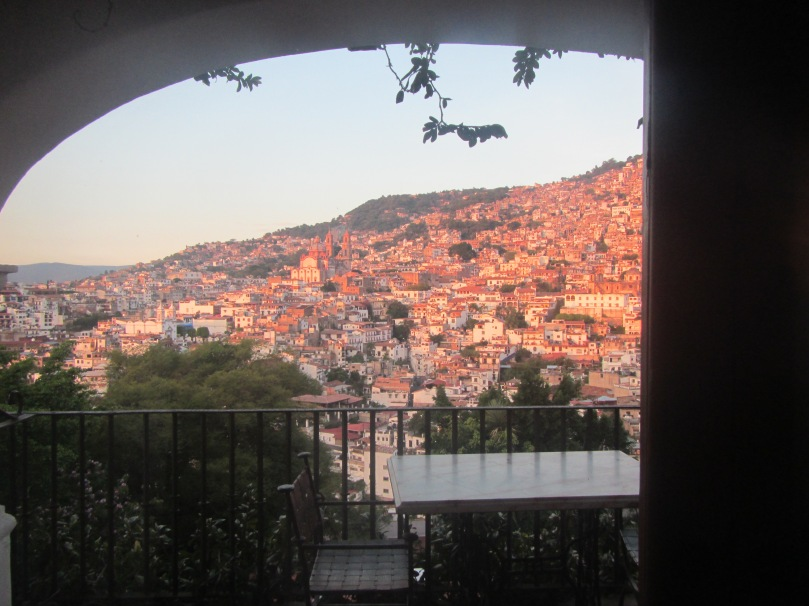 Hotel room view in Taxco