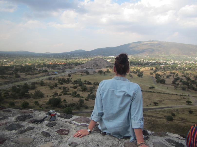 From the top of the Sun Temple, Teotihuacan