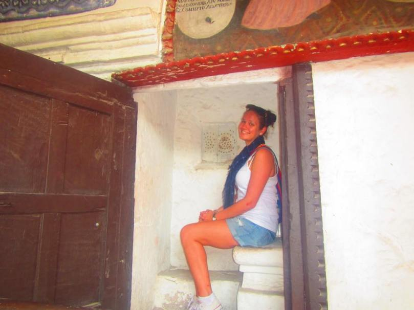 """Giving my first ever """"confession"""" at Santa Catalina Monastery. I had lots to confess..."""