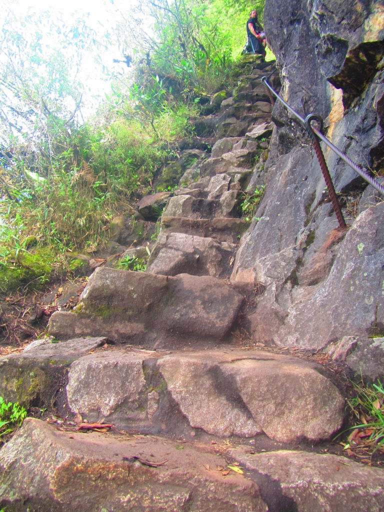 The steps up Huayna Picchu - deadly