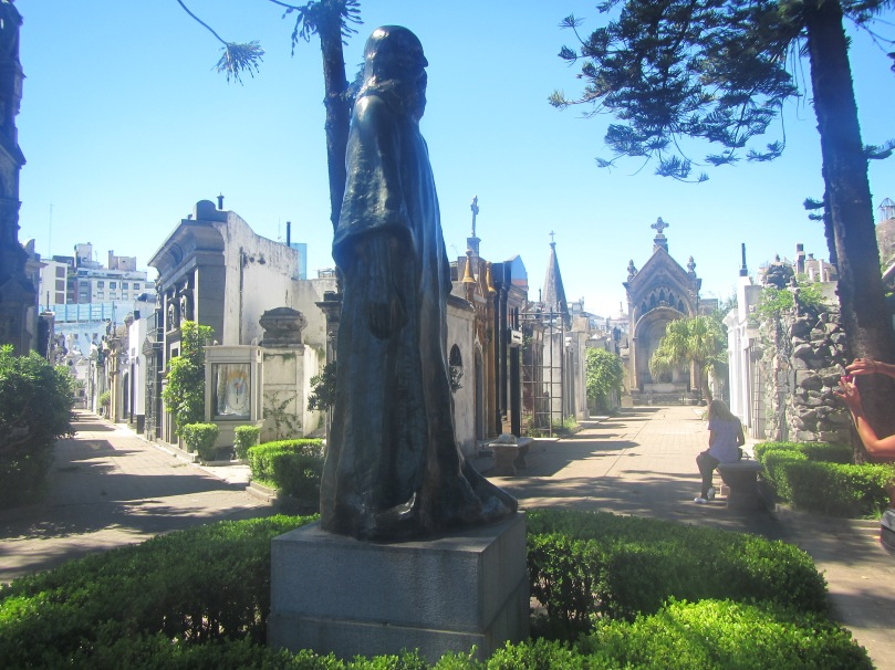 "Within the ""city"" of mausoleums inside Recoleta Cemetery"