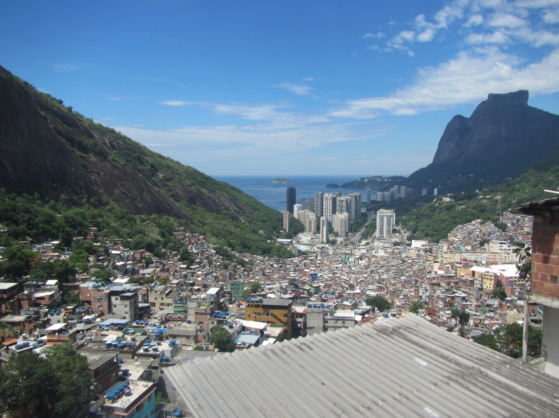 The view at the favela we visited