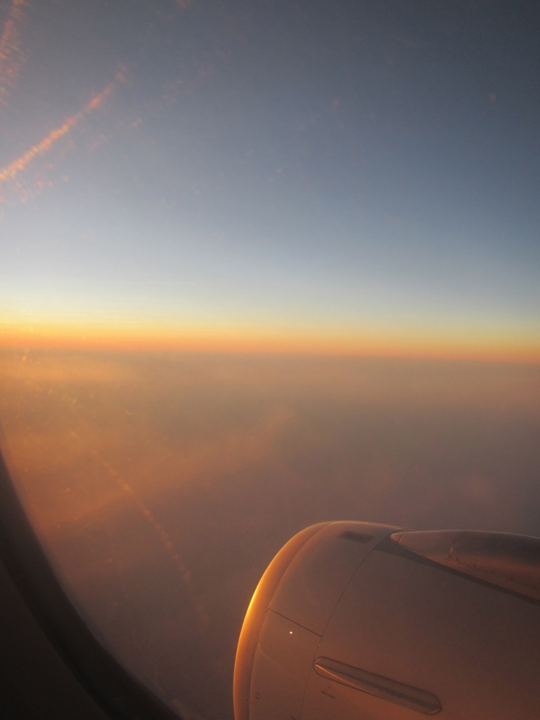 Watching a sunrise from a plane is one incredible experience.
